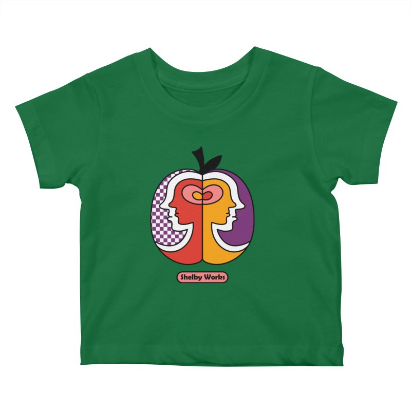 Apple Heads Kids Baby T-Shirt by Shelby Works