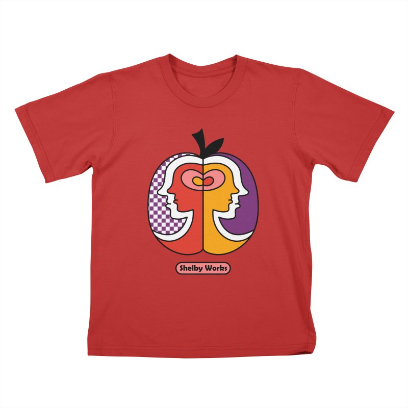 Apple Heads Kids T-Shirt by Shelby Works
