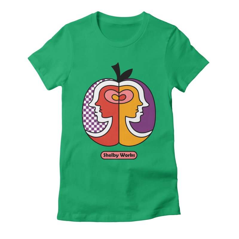 Apple Heads Women's Fitted T-Shirt by Shelby Works