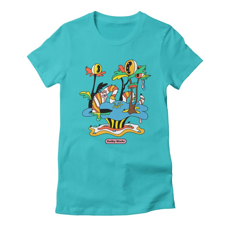 Caterpillar Man Women's Fitted T-Shirt by Shelby Works