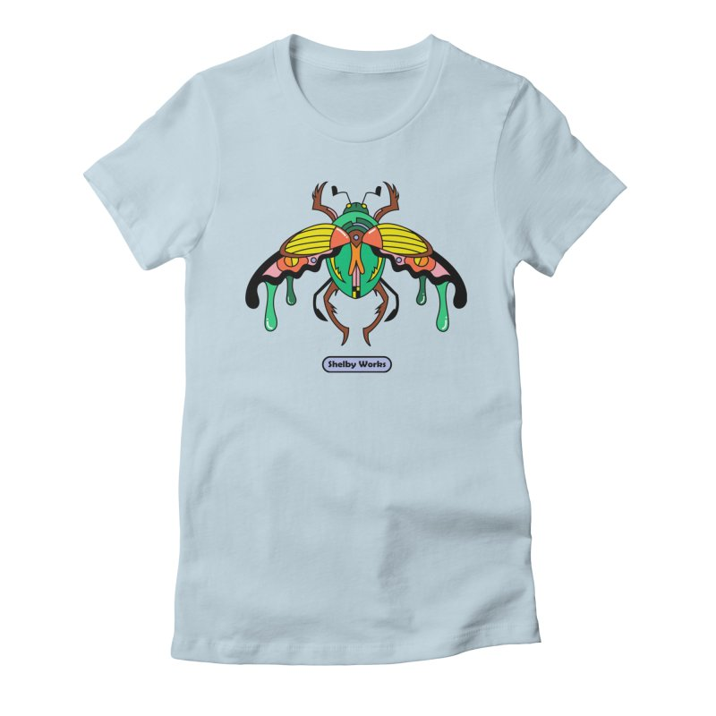 Beetle Sees Women's Fitted T-Shirt by Shelby Works