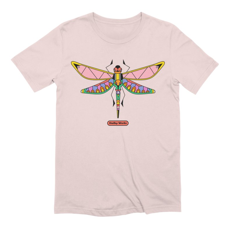 Kaleidoscope Fly Men's Extra Soft T-Shirt by Shelby Works