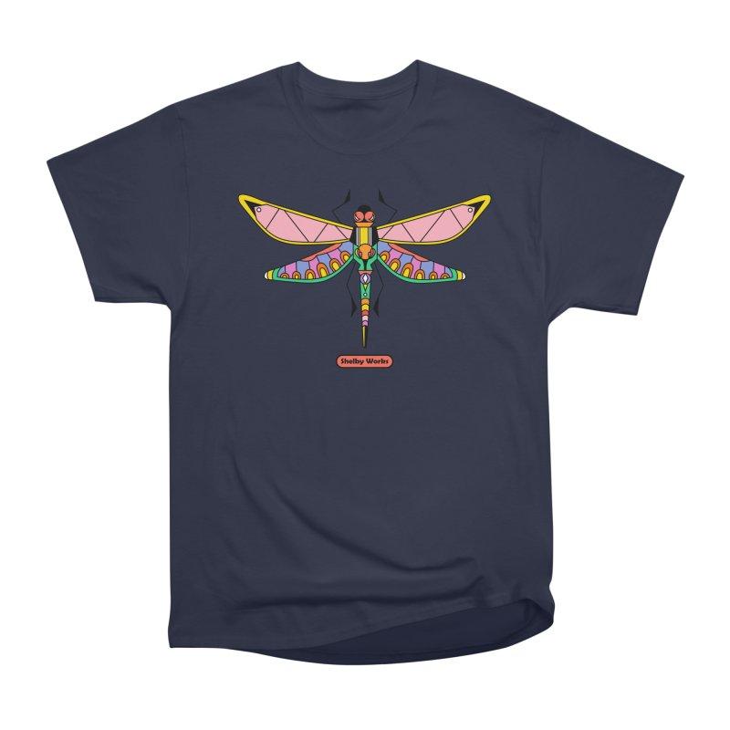 Kaleidoscope Fly Men's Heavyweight T-Shirt by Shelby Works
