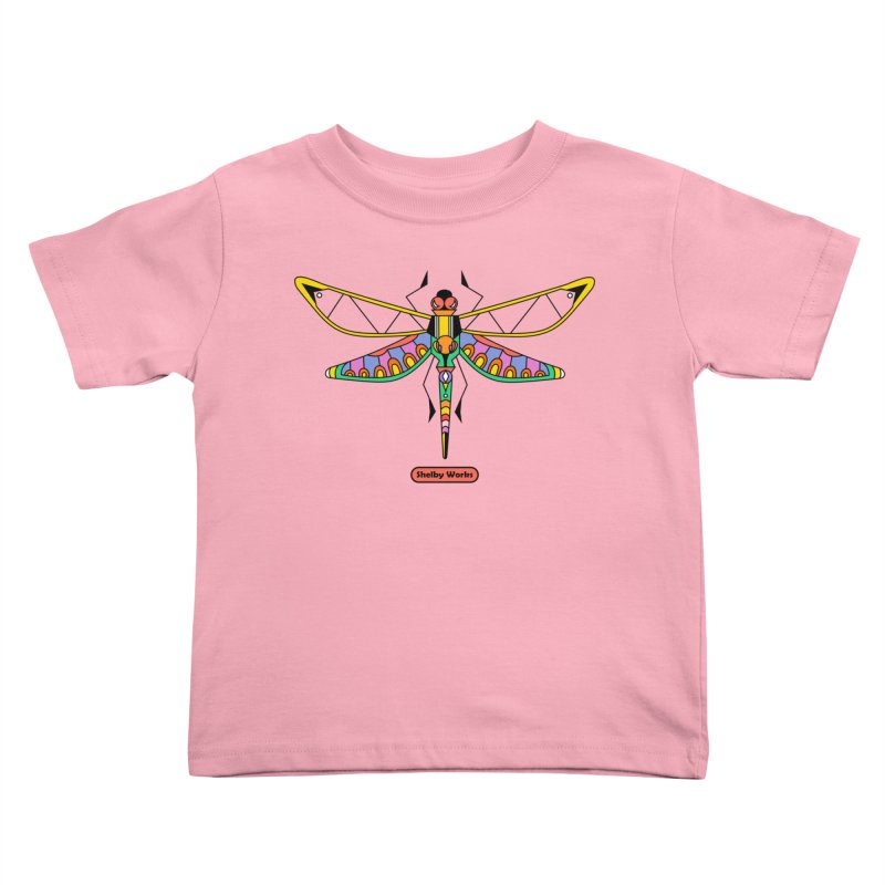 Kaleidoscope Fly Kids Toddler T-Shirt by Shelby Works