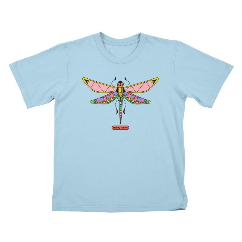 Kaleidoscope Fly Kids T-Shirt by Shelby Works