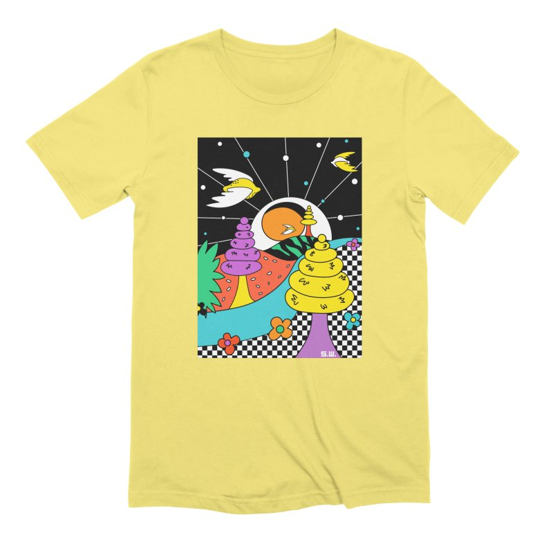 Planet Never Ever Men's T-Shirt by Shelby Works