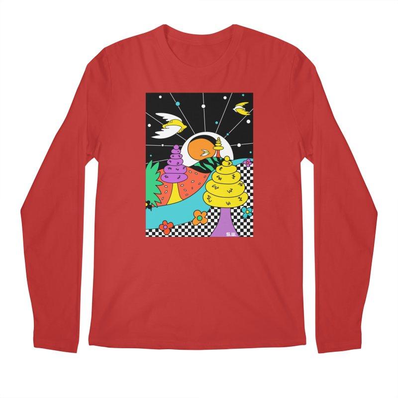 Planet Never Ever Men's Regular Longsleeve T-Shirt by Shelby Works