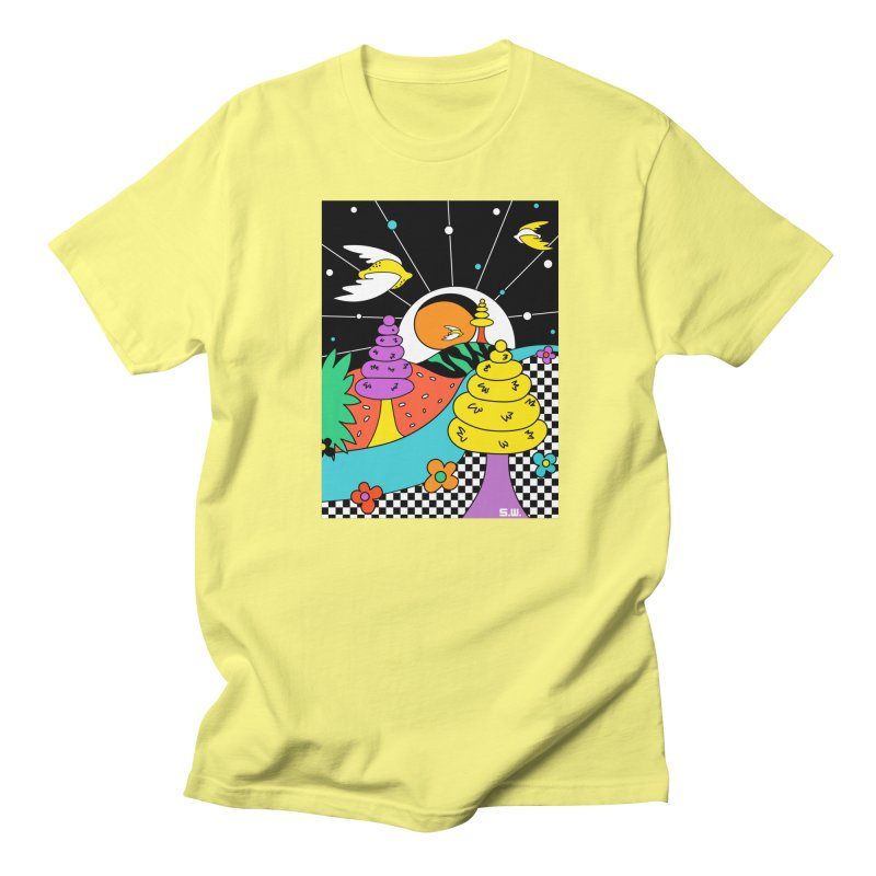 Planet Never Ever Men's Regular T-Shirt by Shelby Works