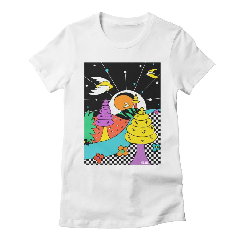 Planet Never Ever Women's Fitted T-Shirt by Shelby Works