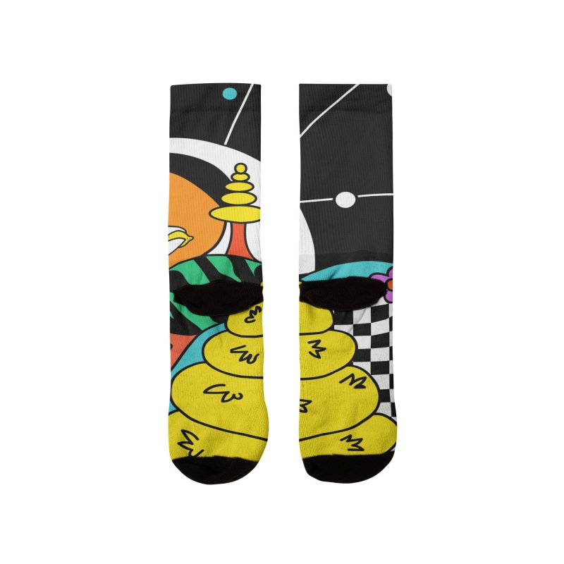Planet Never Ever Men's Socks by Shelby Works