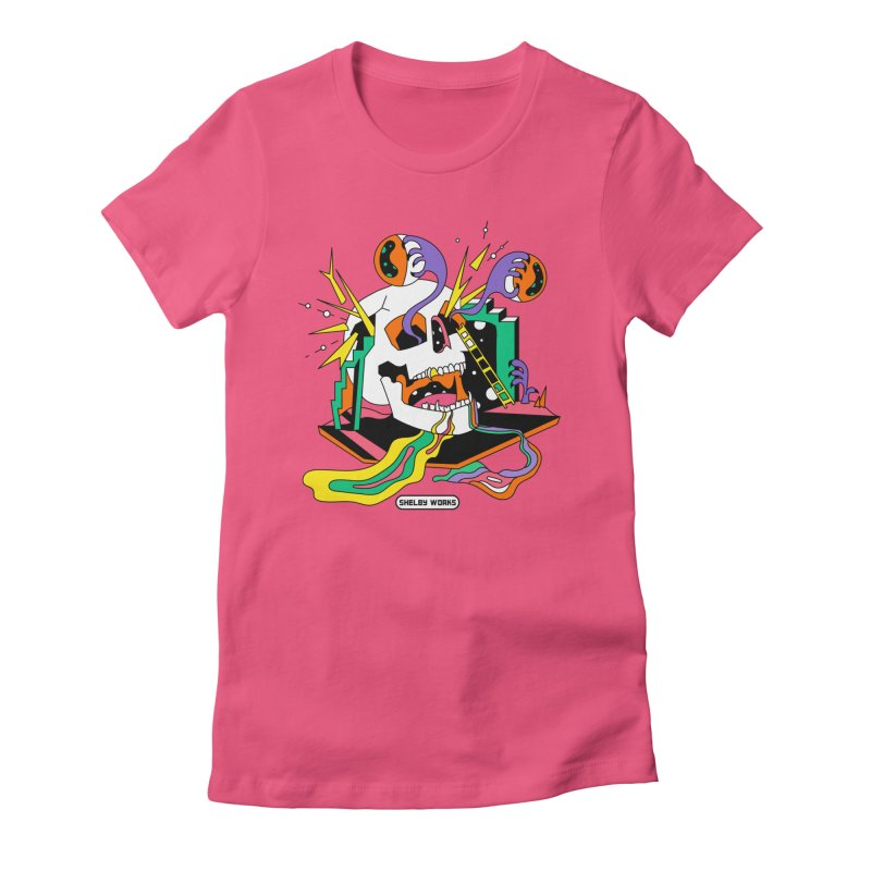 Funky Frights Women's Fitted T-Shirt by Shelby Works