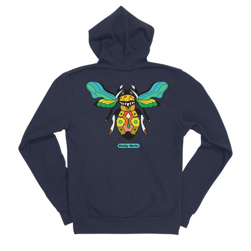 A Bumblebee's Dream to be Unique Men's Sponge Fleece Zip-Up Hoody by Shelby Works