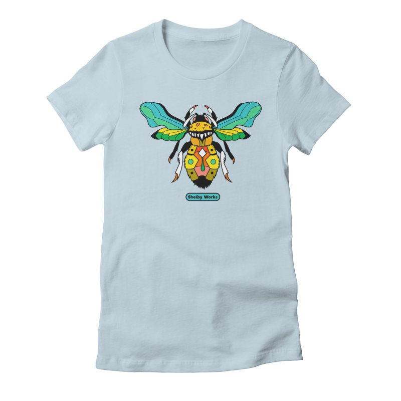 A Bumblebee's Dream to be Unique Women's Fitted T-Shirt by Shelby Works