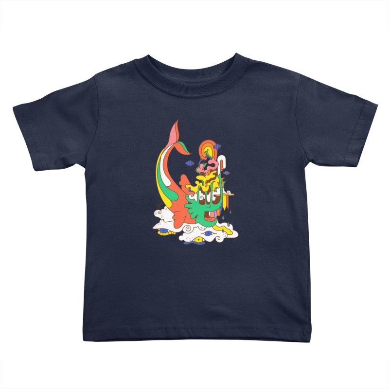 Sleeping Sea Rhino Kids Toddler T-Shirt by Shelby Works