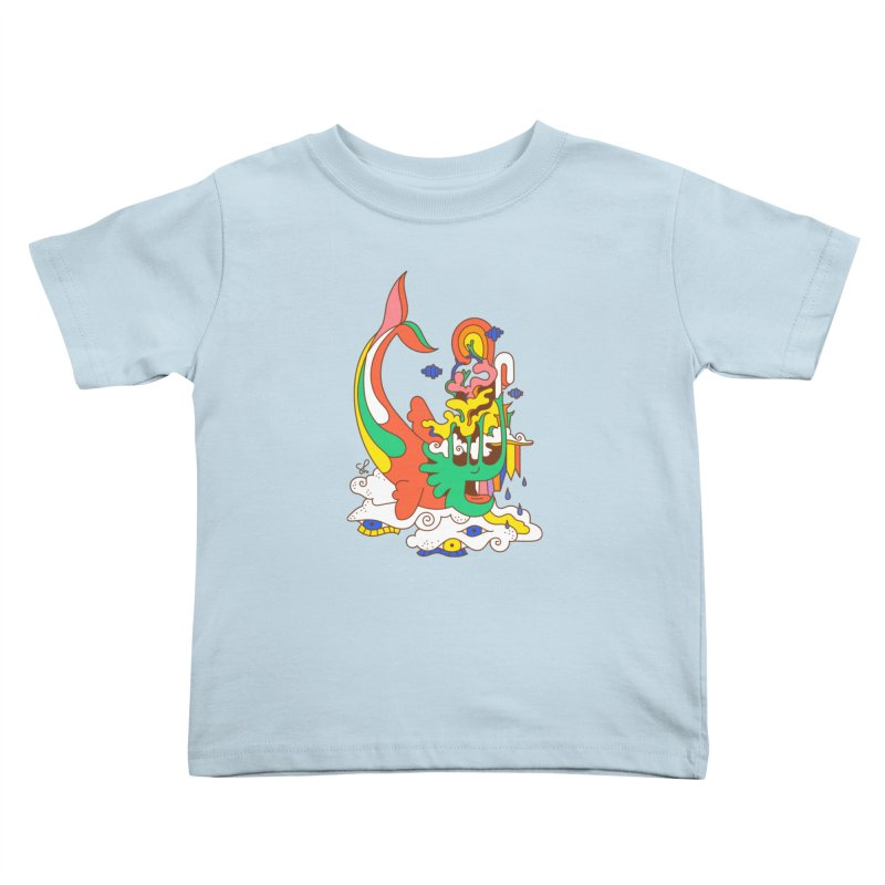 Sleeping Sea Rhino Kids Toddler T-Shirt by Shelby Works