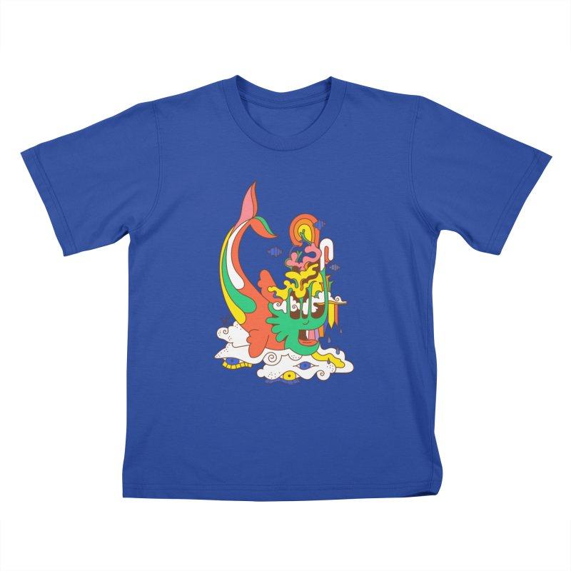 Sleeping Sea Rhino Kids T-Shirt by Shelby Works