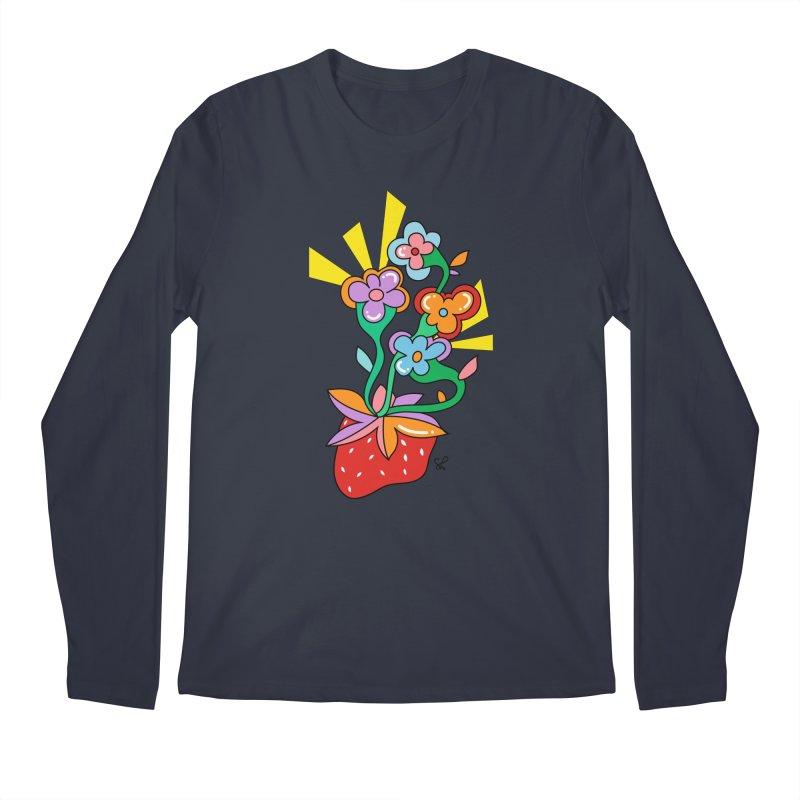 Trumpet Flowers Men's Regular Longsleeve T-Shirt by Shelby Works