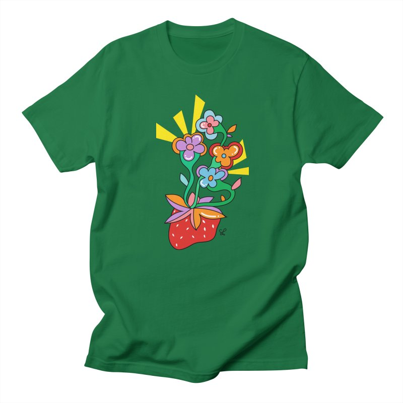 Trumpet Flowers Men's T-Shirt by Shelby Works