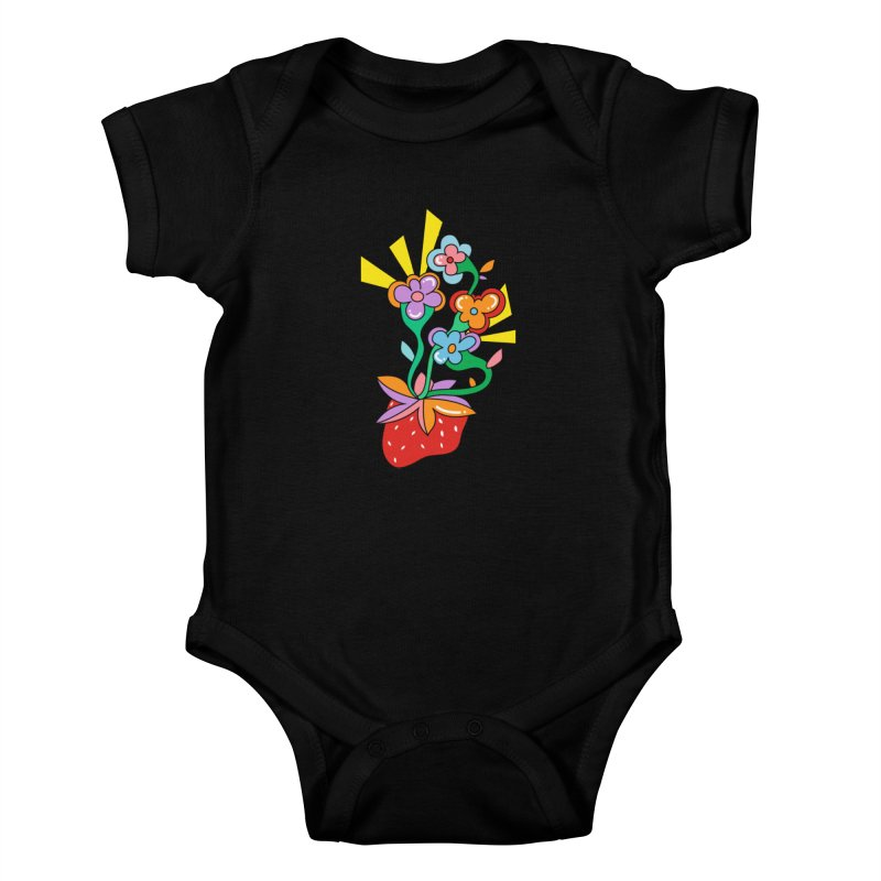 Trumpet Flowers Kids Baby Bodysuit by Shelby Works