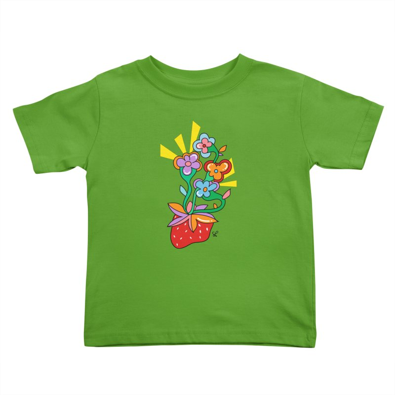 Trumpet Flowers Kids Toddler T-Shirt by Shelby Works