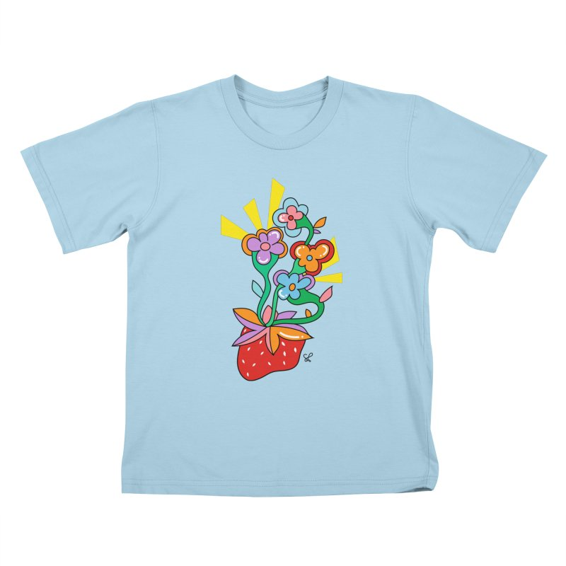 Trumpet Flowers Kids T-Shirt by Shelby Works