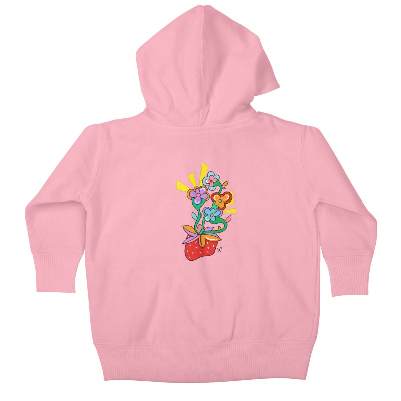 Trumpet Flowers Kids Baby Zip-Up Hoody by Shelby Works