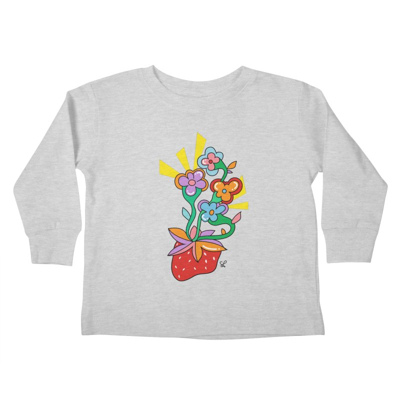 Trumpet Flowers Kids Toddler Longsleeve T-Shirt by Shelby Works