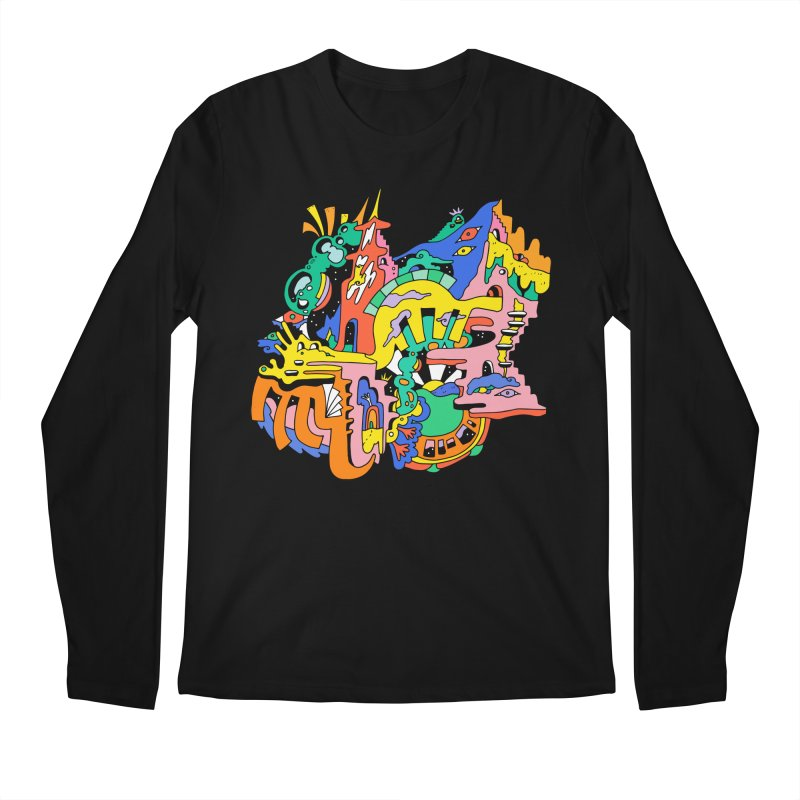 A Starry Night Men's Regular Longsleeve T-Shirt by Shelby Works