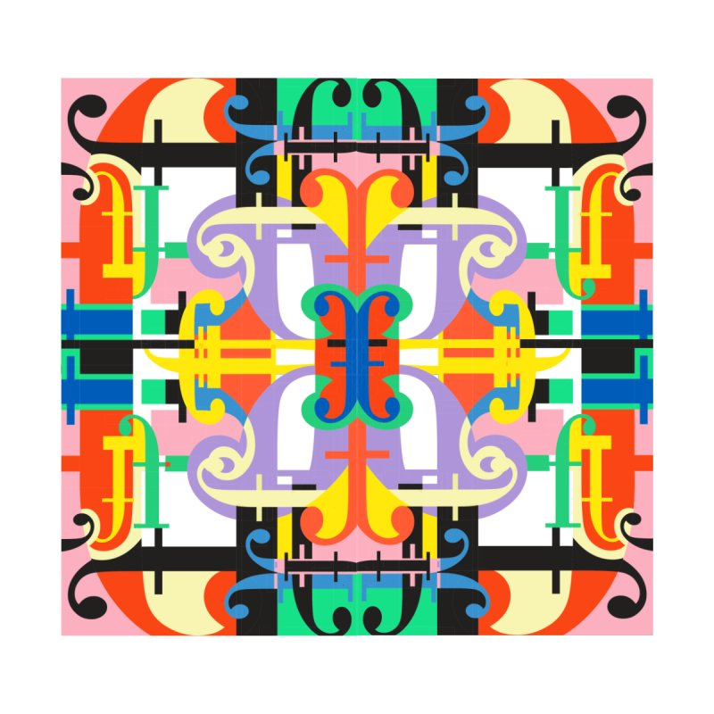 Psychedelic Myriad Home Blanket by Shelby Works