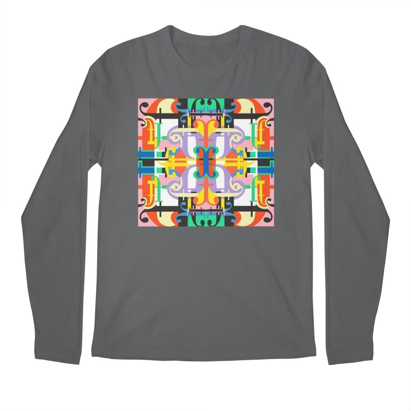 Psychedelic Myriad Men's Longsleeve T-Shirt by Shelby Works