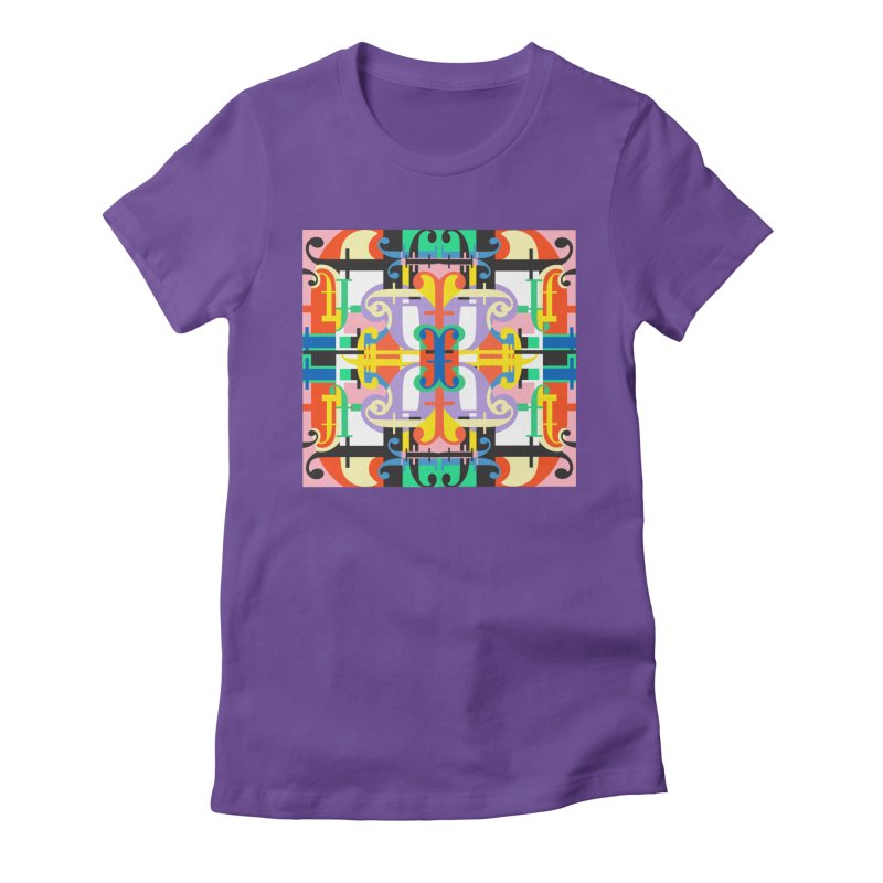 Psychedelic Myriad Women's Fitted T-Shirt by Shelby Works