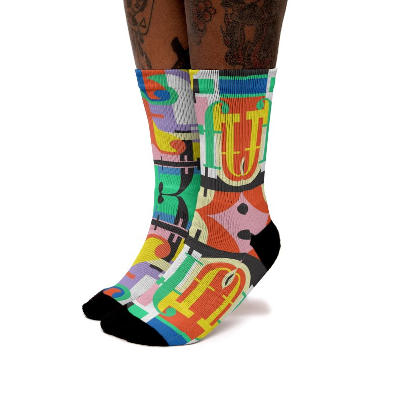 Psychedelic Myriad Women's Socks by Shelby Works