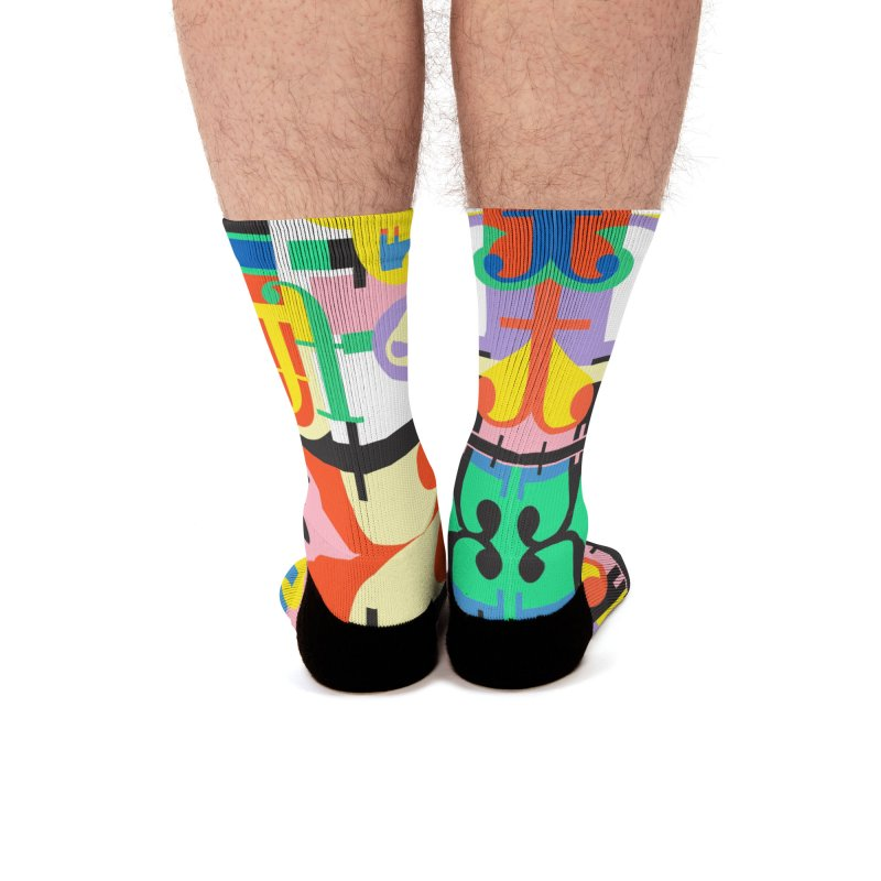 Psychedelic Myriad Men's Socks by Shelby Works