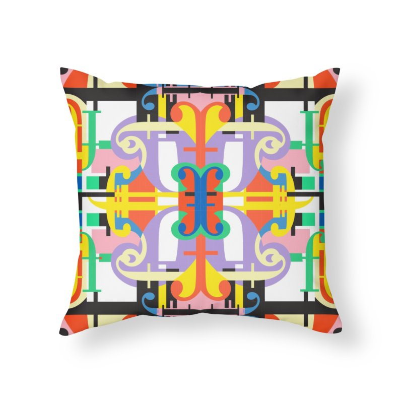 Psychedelic Myriad Home Throw Pillow by Shelby Works