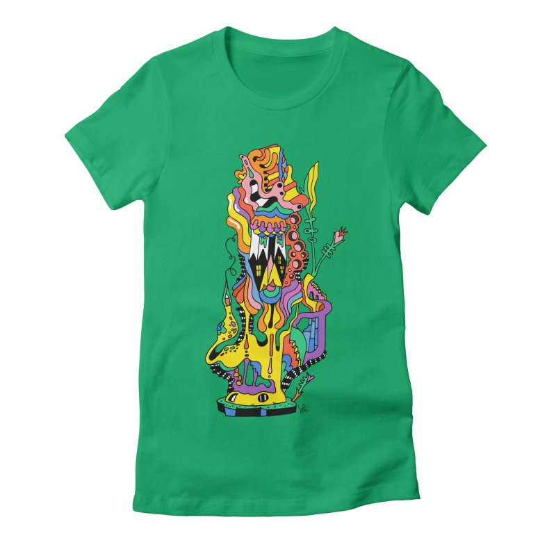 A Hookah Smoking Caterpillar Women's T-Shirt by Shelby Works