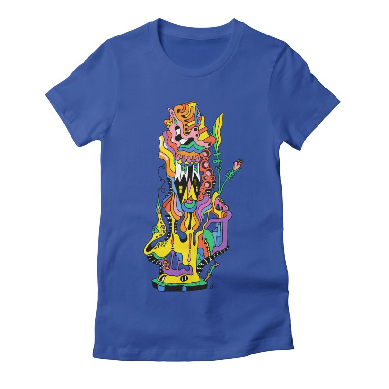 A Hookah Smoking Caterpillar Women's Fitted T-Shirt by Shelby Works