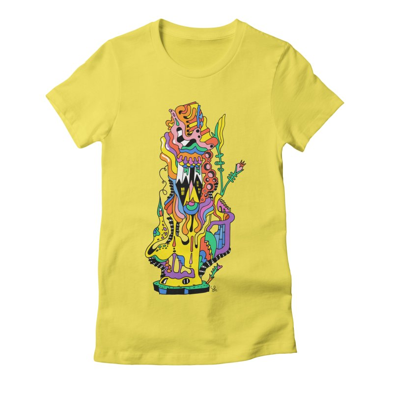 A Hookah Smoking Caterpillar Women's T-Shirt by Shelby Works