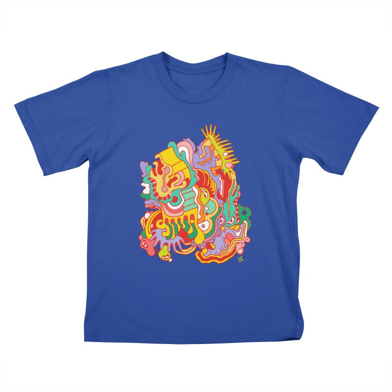 Nebular Oasis Kids T-Shirt by Shelby Works