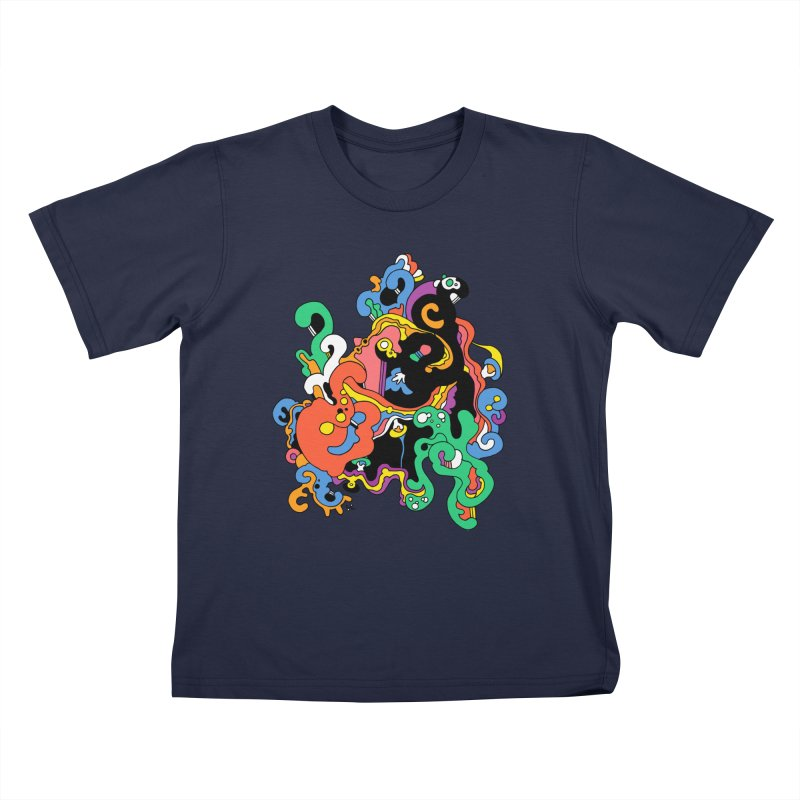 Swirly Junction Kids T-Shirt by Shelby Works