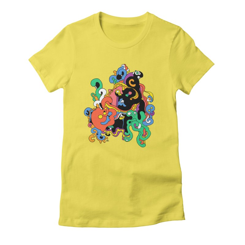 Swirly Junction Women's T-Shirt by Shelby Works