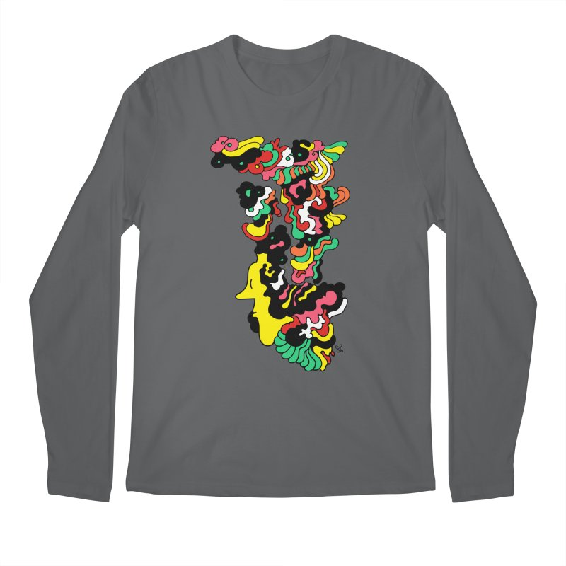 A Man with a Funky Hat Men's Longsleeve T-Shirt by Shelby Works
