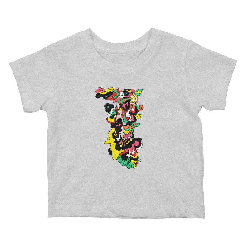 A Man with a Funky Hat Kids Baby T-Shirt by Shelby Works