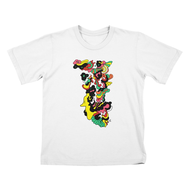 A Man with a Funky Hat Kids T-Shirt by Shelby Works