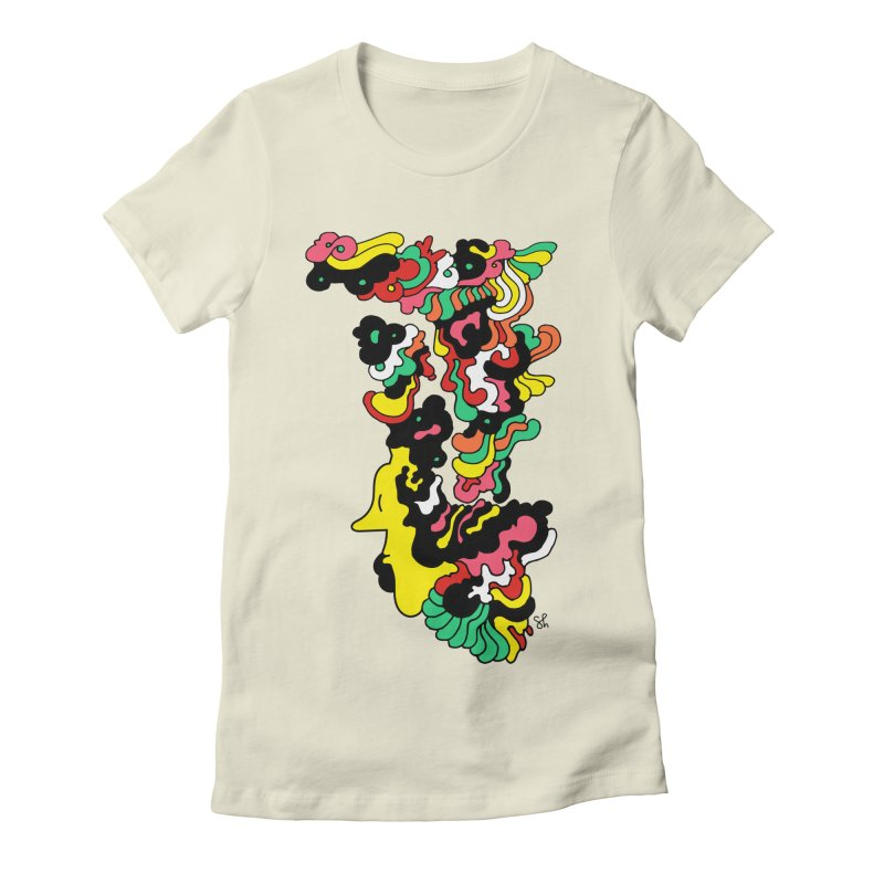 A Man with a Funky Hat Women's Fitted T-Shirt by Shelby Works