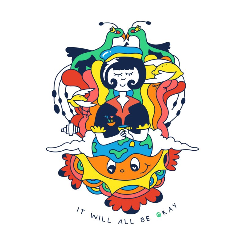 It Will All Be Okay. Kids Longsleeve T-Shirt by Shelby Works