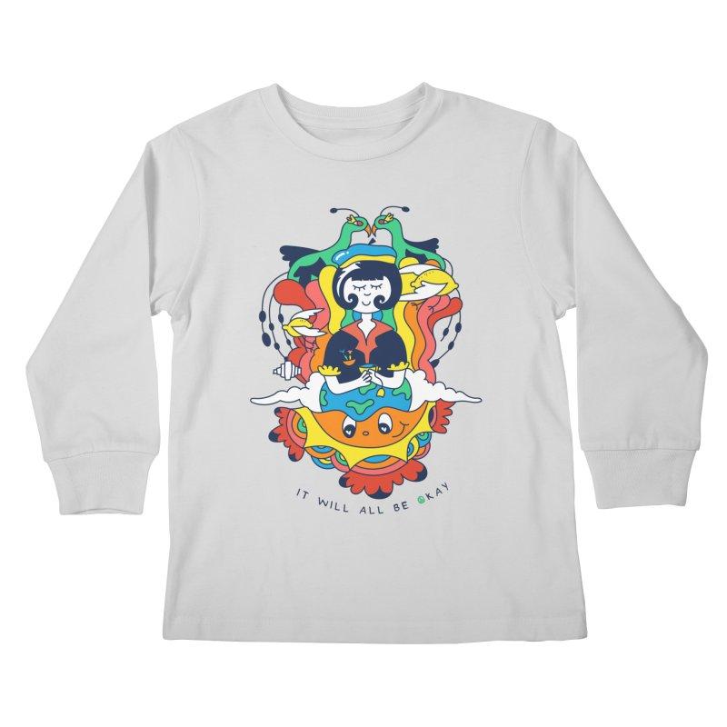 It Will All Be Okay. Kids Longsleeve T-Shirt by Shelby Works
