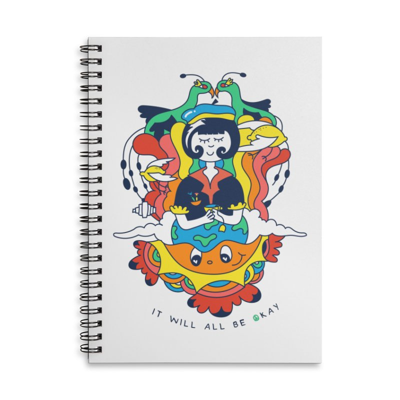 It Will All Be Okay. Accessories Lined Spiral Notebook by Shelby Works