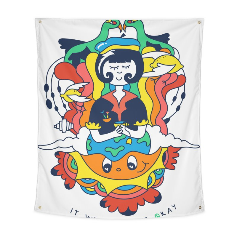 It Will All Be Okay. Home Tapestry by Shelby Works