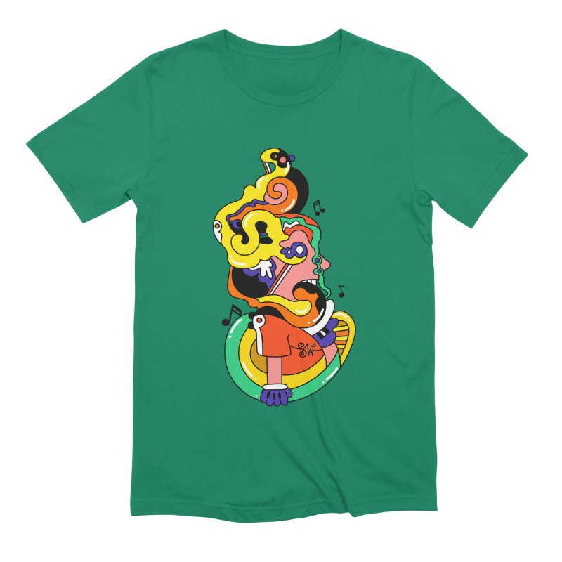 One Man Band Men's T-Shirt by Shelby Works