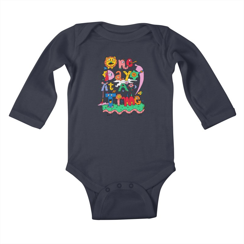 One Day at a time. Kids Baby Longsleeve Bodysuit by Shelby Works